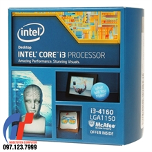 CPU – Intel® Core™ i3-4160 Processor (3M Cache, 3.60 GHz)